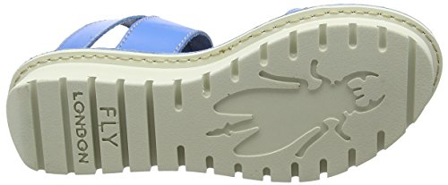 FLY Smurf 004 London Bride Femme Sandales Cheville Kiba465 Bleu Blue wcrRgnWrq