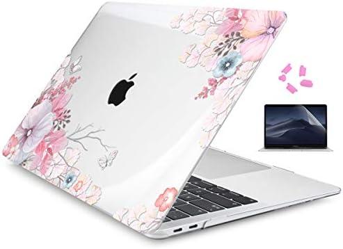 Batianda Funda Dura para 2018 MacBook Air 13 Retina A1932, Patrón de Flores Delgado Carcasa Rígida Protector & Tapón de Silicona & Protector de ...