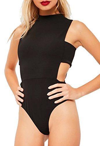 Re Tech UK Noir pour femmes sans manche Découpe Tab col polo body mode  Justaucorps tailles 8-14  Amazon.fr  Vêtements et accessoires 25edd4e7e70