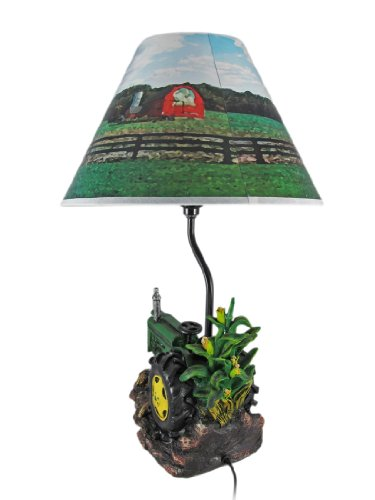 Farm Tractor Lamp : Green farm tractor inch table lamp country import it all