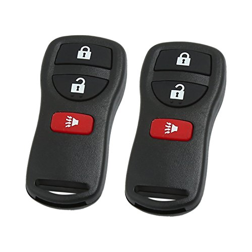 uxcell 2pcs 315MHz 3 Button Car Replacement Keyless Entry Remote Control Key Fob Clicker for KBRASTU15