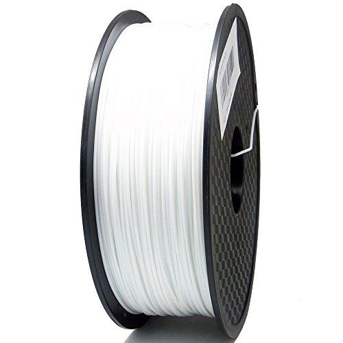 1 Packung 3D Drucker PLA 1.75mm Printer Filament - Mit Spule 1kg (Weiß)