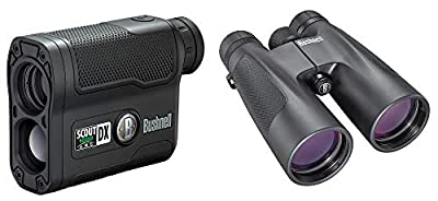 Bushnell 1000 ARC Laser Rangefinder & Power View Prism Hunting Binoculars from Bushnell