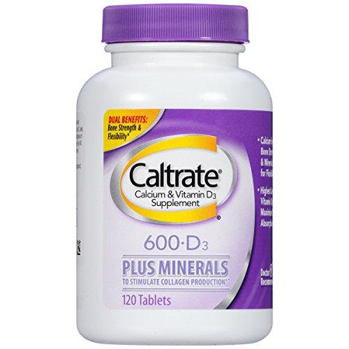 Caltrate Calcium & Vitamin D Plus Minerals 600+D3 Tablets, 120 Count
