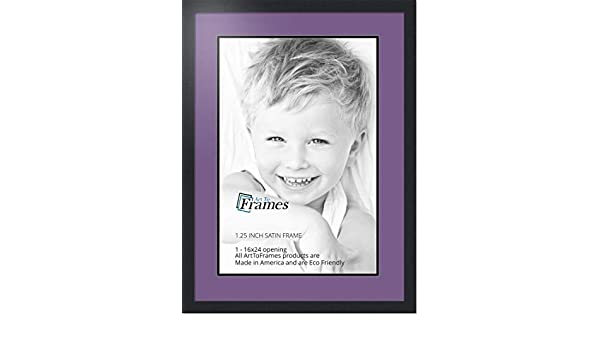 Art to Frames Double-Multimat-652-849//89-FRBW26079 Collage Photo Frame Double Mat with 1-16x24 Openings and Satin Black Frame