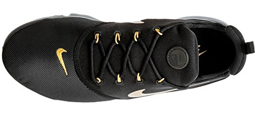 NIKE New Herren Presto Fly Running Sneaker Schwarz / Metallic Gold / Gum