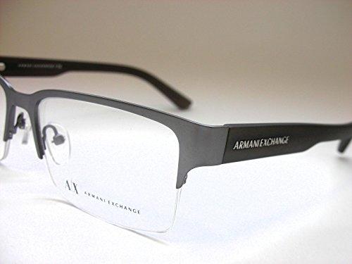 Armani Exchange AX1014 Eyeglass Frames 6060-53 - Satin Gunmetal/Capers AX1014-6060-53