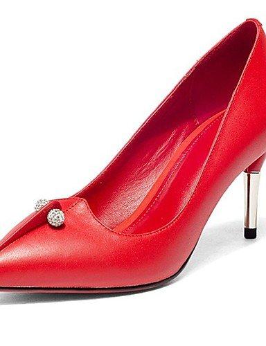 GGX/ Damen-High Heels-Büro / Lässig-Leder-Stöckelabsatz-Absätze / Spitzschuh-Rosa / Rot / Weiß pink-us5 / eu35 / uk3 / cn34