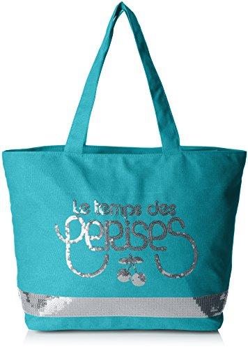 Borse Des Cerises Turchese Tote Temps Donna turquoise Le Glitter 5 CUwvn7qX