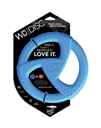 WO Design WO Disc USA Made Dog Frisbee Tug Toy, Green