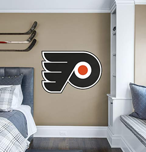 Fathead NHL Philadelphia Flyers Philadelphia Flyers: Logo - Giant Officially Licensed NHL Removable Wall Decal