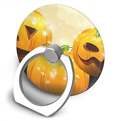 (Cell Phone Finger Ring Holder Halloween Pumpkin 360 Degree Rotating Stand Grip Mount Phone Bracket)