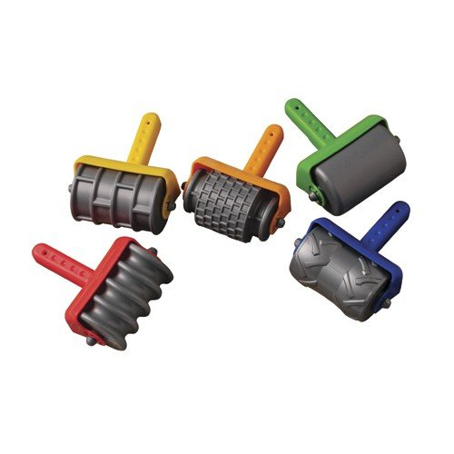 Constructive Playthings HPE-5 Constructive Playthings Textured Sand Rollers Set of 5 Toys for Kids