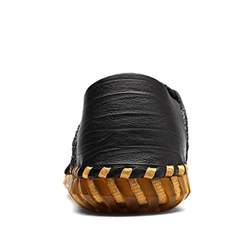 scarpe da Dimensione Mens Beach all'aperto Nero shoes nuovo di mare Anti di sono in con skid uomo antiscivolo casual Il pelle da 44 Turismo stile primo 2018 mucca strato EU Sandali Color wtggq