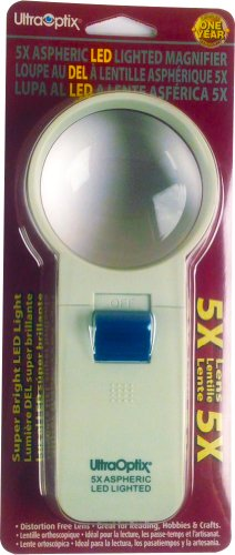 2.5-Inch Round LED Magnifier 5X (Lighted Led Ultraoptix)