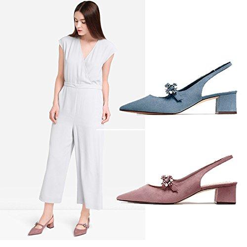 ZPPZZP La sig.ra sandali con pendenza wild confortevoli e spesso-con color albicocca 38EU