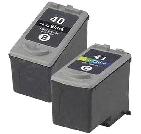 1 x Set (1 x Black 1 x Colour)  Professionally Maximum rellenared tinta reemplazo For CANON Pixma mp180 impresora, PG 40 CL 41 tinta CANON MultiPass 450, MP150, MP160, MP170,
