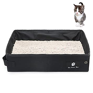 Petacc Caja de arena para gatos a prueba de agua Plegable Camada para mascotas Cajas de