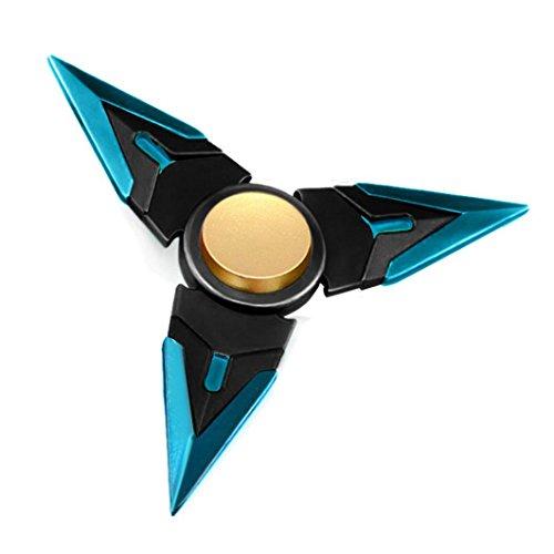 Newest Spinner Fidget Metal, Tri-Spinner Hand Spinner Fidget, Hybird Bearing, New Style Novelty Toy, Kids Adult Focus Desk Toy (Black)