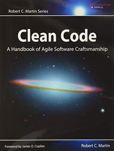 Book : Clean Code: A Handbook Of Agile Software Craftsman...