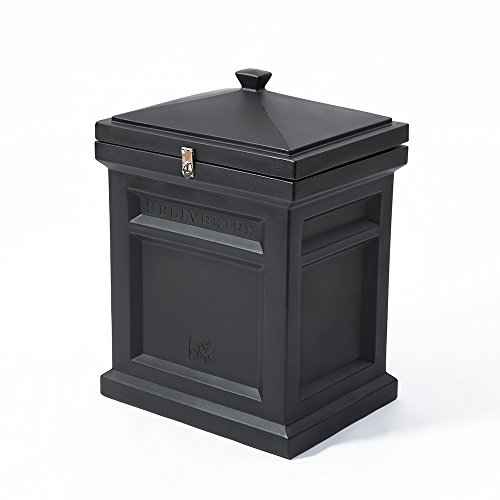 Package Drop - Step2 Deluxe Package Delivery Box, Elegant Black