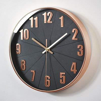 WALIZIWEI Silencio De Plástico Colgando Bell Salón Reloj Digital Estéreo De 30Cm Magia Negra: Amazon.es: Hogar