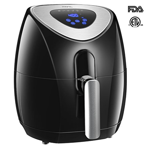 PRYTA Air Fryer, 3.4 Quart 6 Cook Presets Oil Less Fryer Comes with 50 Recipes, Touch Screen Control, Dishwasher Safe, Non-Stick Interior, 1500W