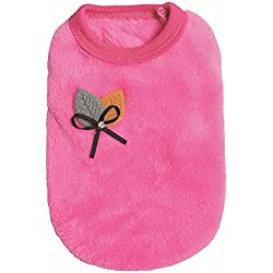 Farjing Winter Warm Padded Thickening Dog Vest Puppy Costumes Pet Clothes(Size:4,Hot pink)