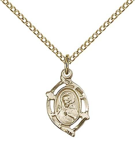 14kt Gold Filled Scapular Pendant with 18