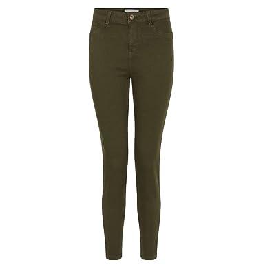 c1e25ee1a7e7 Ex Newlook - Jeans - Femme vert kaki - vert - 38  Amazon.fr ...