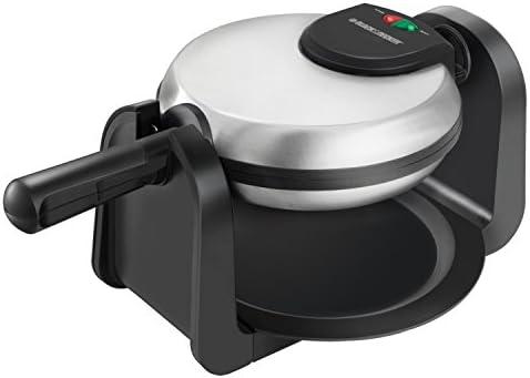 black-decker-flip-waffle-maker-silver