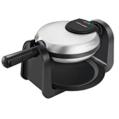 Make thick, fluffy waffles that soak up syrup and hold all your favorite toppings. With just a flip of the handle, the rotate and cook system makes perfectly formed waffles on the nonstick surface. Plus, the waffle ready indicator light lets you know...