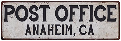 Post Office Antique - Anaheim, Ca Post Office Vintage Look Metal Sign Chic Retro 8242121