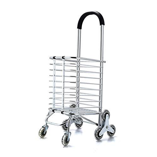 Carretillas De Mano Plegables De Equipaje Portátil Plegable De Aleación De Aluminio con Caja 8 Carrito De Compras Redondo...