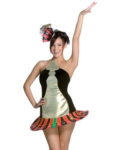 Roulette Wheel Costume Size: Women's Standard (Roulette Wheel Costume)