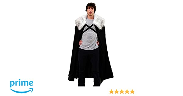 Halloween Capa para disfraz de Lord Comandante de la Guardia de la Noche, cosplay, talla única mediana - Black with grey fur: Amazon.es: Ropa y accesorios