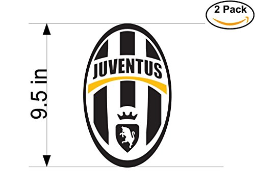 Juventus Italy Soccer Football Club FC 2 Stickers Car Bumper Window Sticker Decal Huge 9.5 inches by CanvasByLam
