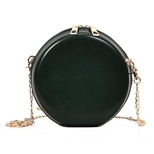 17x7x17cm borsetta rotonda Nero catena brown Green 6 messenger Dabixx 69x2 69 tracolla a travel Crossbody borsa moda donne 76x6 HqwEnxzABO