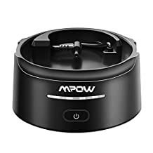 Mpow Battery Base for Amazon Echo Dot, 10000 mAh Intelligent External Battery Power Bank , Wireless Charging Base / Portable Charger with USB Outlet for Smartphones, Generation 2, Dark Black