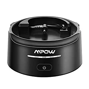 Mpow [G-2] Battery Base for Echo, 10000 mAh Echo Charging Base with USB Port for Charging Your Cellphones/Tablets, External Battery Power Bank with Protection Pad & Portable Silicone Handle, Black