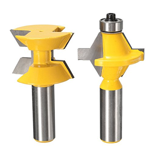 2pcs 1/2 Inch Shank Groove Router Bit Set Woodworking Cutter by SPS_IN