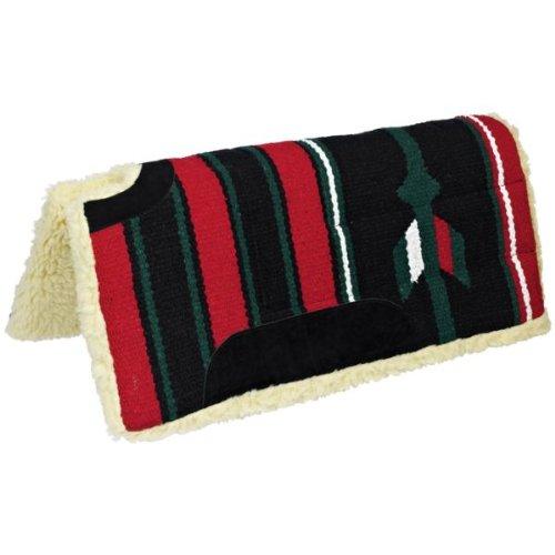 Navajo-Pad CLASSIC, square, padded, cut-back, burgundy black, 30x30, 75x75