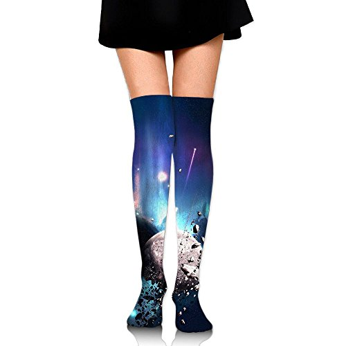 Meteorite In Space Over The Knee Long Socks Tube Thigh-High Sock Stockings For Girls & Womens -