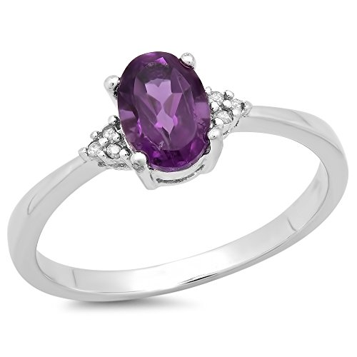 088-Carat-ctw-Sterling-Silver-Oval-Cut-Amethyst-Round-Diamond-Accents-Bridal-Promise-Engagement-Ring