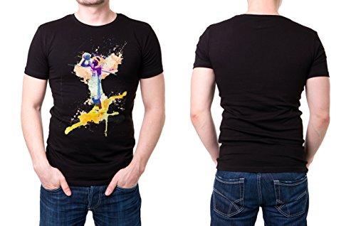 Basketball_VII schwarzes modernes Herren T-Shirt mit stylischen Aufdruck