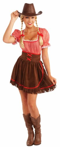 [Forum Novelties Women's Cowpoke Cutie Costume, Red/Brown, One Size] (Gingham Womens Costumes)