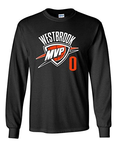 2bcd3f1d746 Jual Long Sleeve BLACK Oklahoma City 'Westbrook' T-Shirt - Men ...