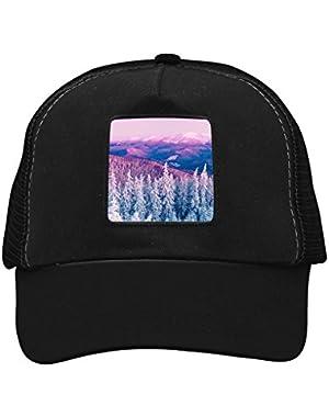 Unisex Snow Pink Moutain Adjustable Classic Hiphop Hat Baseball Cap Snapback Dad Hat