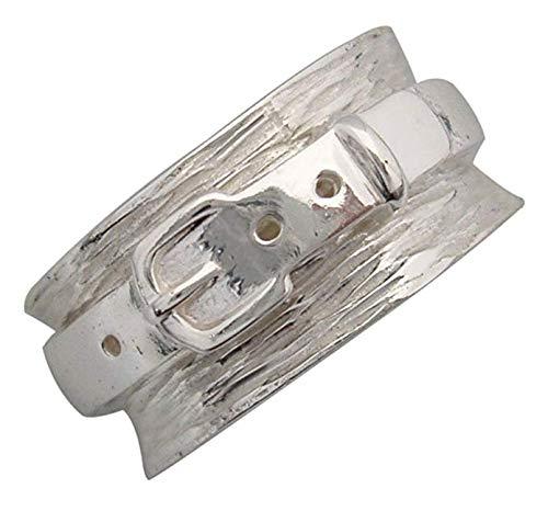 Energy Stone Fitness Sterling Silver Spinning Belt Spinner Ring (Style# US23) (8)