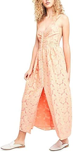 Free People Womens Fresh As A Daisy Embroidered Sleeveless Maxi Dress